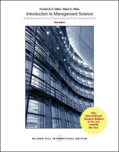 Introduction to Management Science (5th Edition) Hillier IE