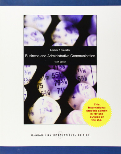Business and Administrative Communication (10th Edition) Locker IE