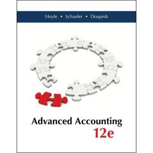 Advanced Accounting (12th Edition) Hoyle