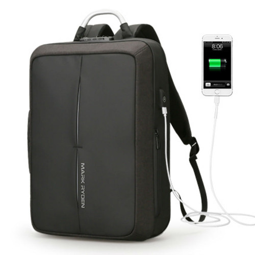 Anti-theft USB Recharging Polyester  Business Backpack