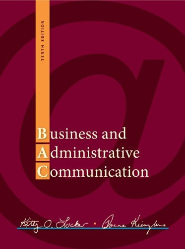 Business and Administrative Communication (10th Edition) Locker