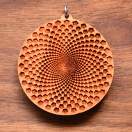 Sunflower Fractal in Cherry wood