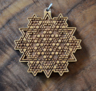 Tetrahedron Galaxy in Cherry wood
