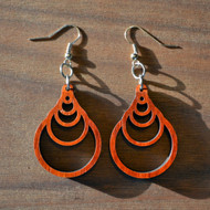 Fibonacci Cascade Hardwood Earrings