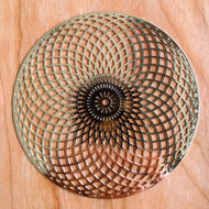Tube Torus - 18 karat Gold-Plated Crystal Grid - 4""