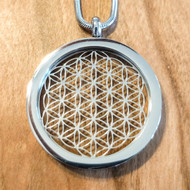 Flower of Life Pendant - Silver Plated Necklace