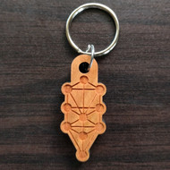 Tree of Life Hardwood Keychain