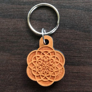 Flower of Creation Hardwood Keychain