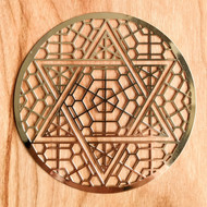 Star of David - 18 karat Gold Plated Crystal Grid - 4""