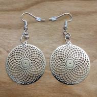 Tube Torus Earrings - Silver Plated