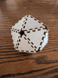 DIY 3D Isocahedron Model Kit