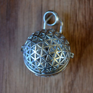 Flower of Life Sphere - Silver Plated Aromatherapy Pendant