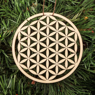 Simple Flower of Life Ornament - Sacred Geometry - Laser Cut Wood