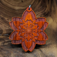 Double Seed Fractal on African Padauk Hardwood