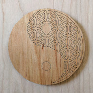 Yin Yang Flower of Life Drink Coasters - Set of 4