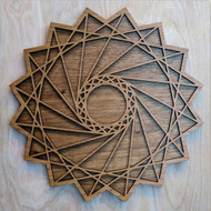 Square Spiral Wall Art