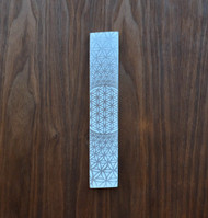 Flower of Life Phi Vortex Engraved Selenite