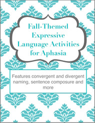 Fall-Themed Expressive Language Activities