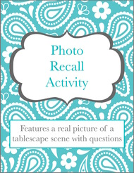 Photo Recall Activity (Table Scene)