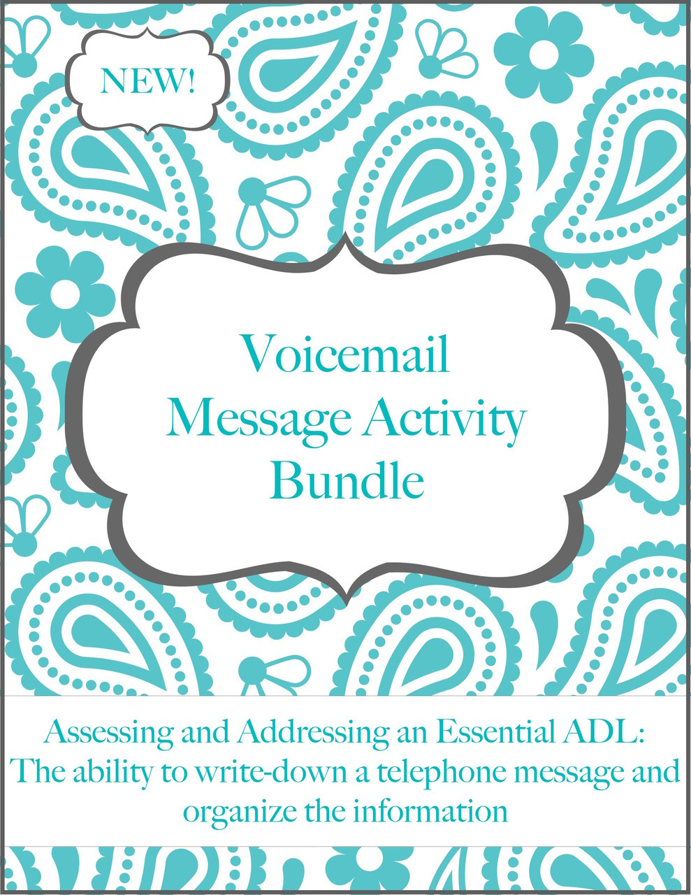 Voicemail Message Activity Calm Speech Therapy