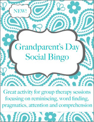 Grandparent's Day Social Bingo