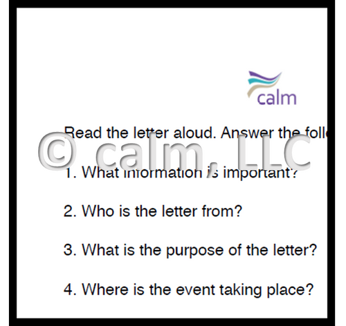 Understanding written letter invitation