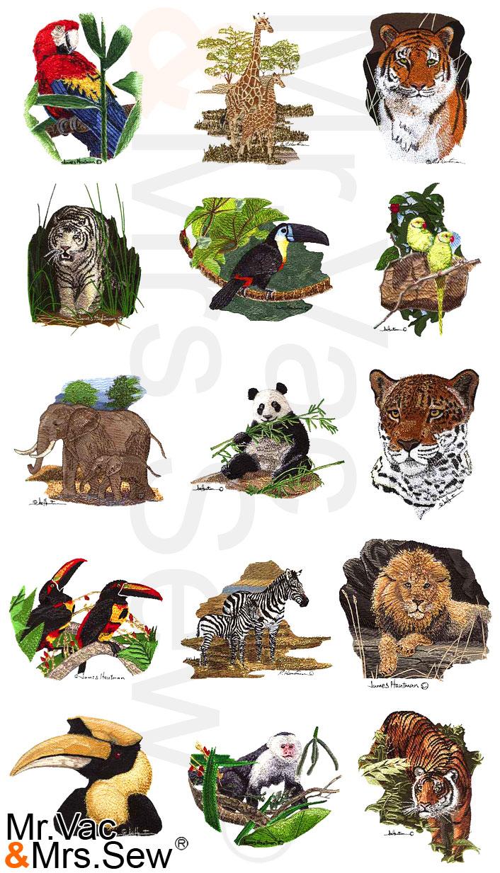 Dakota Collectibles Hautman Brothers Exotic Wildlife Embroidery Design CD