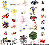 136 Built-In Embroidery Designs