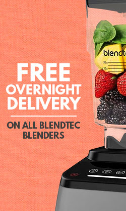 Free Overnight Delivery on Blendtec Blenders
