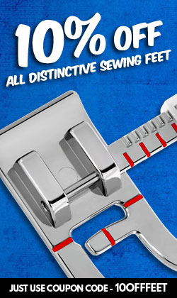 10 Percent Off Distinctive Sewing Feet
