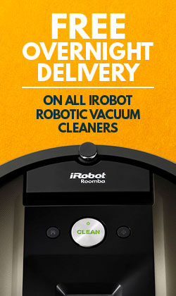 Overnight Delivery on iRobot Vacuum Cleaners