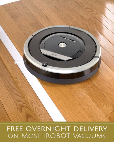 Free Overnight Delivery on Most iRobot Vacuums