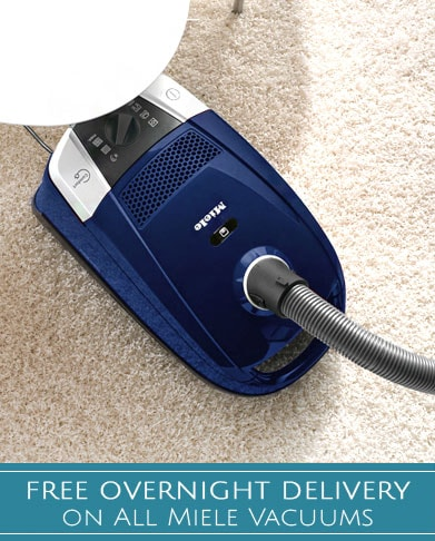 Free Overnight Delivery on All Miele Vacuums