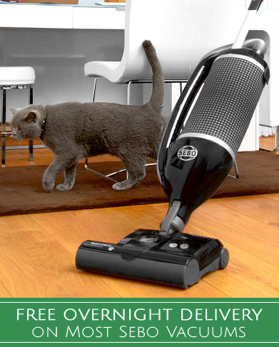 Free Overnight Delivery on Most Sebo Vacuums