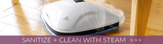 Sanitize + Clean With Steam