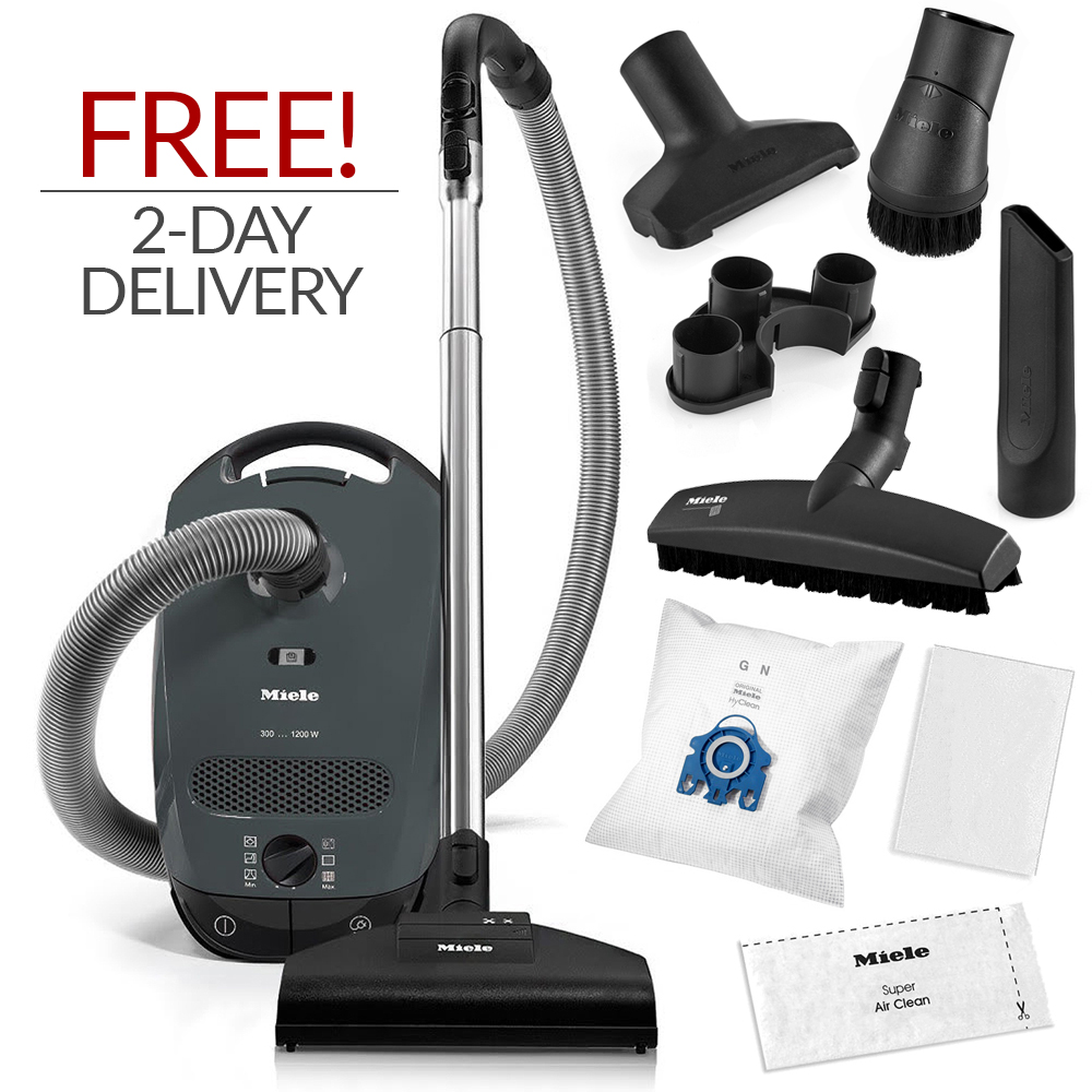 miele classic c1 capri canister vacuum cleaner w free 2 day expedited delivery ebay. Black Bedroom Furniture Sets. Home Design Ideas