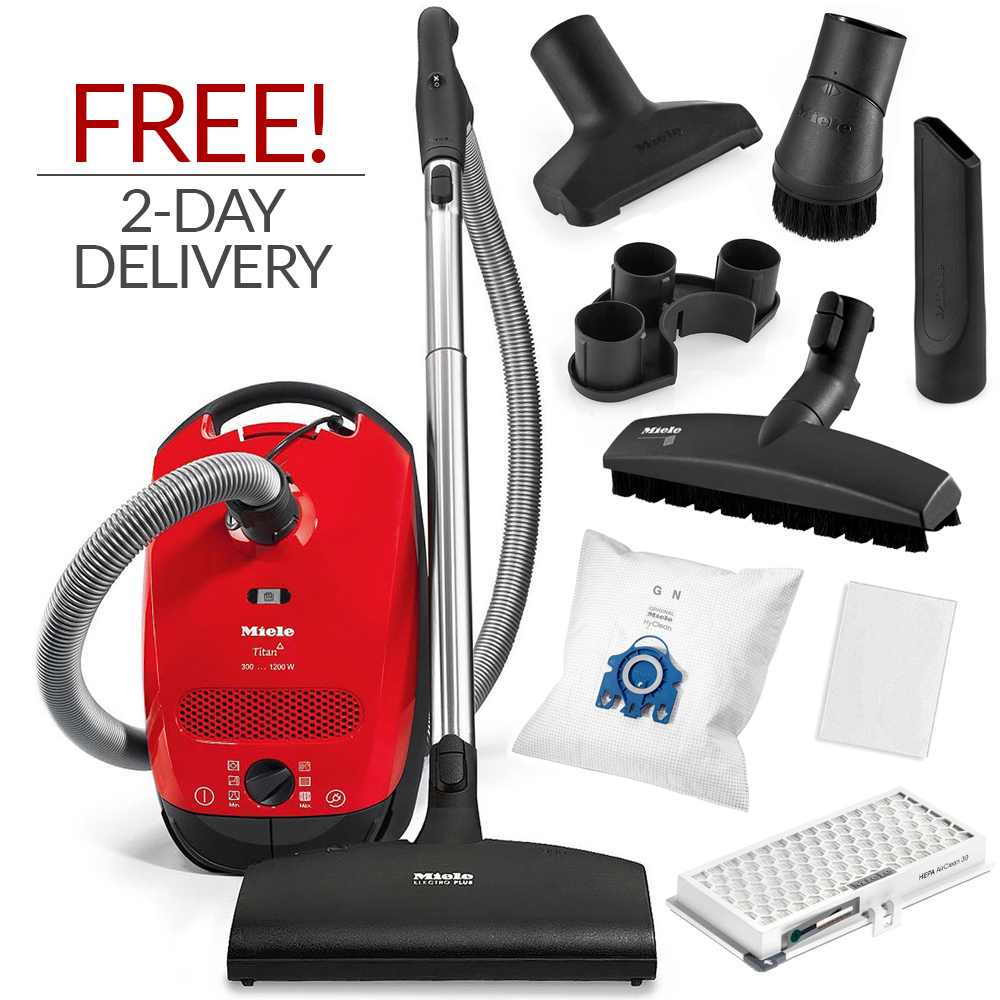 miele classic c1 titan canister vacuum cleaner w free 2 day expedited delivery ebay. Black Bedroom Furniture Sets. Home Design Ideas