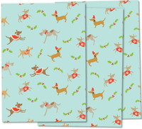 Christmas Dogs wrapping paper for dog-lovers