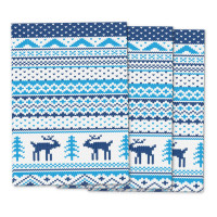 Stylish Christmas Knit wrapping paper with Fair Isle pattern