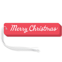 "Red ""Merry Christmas"" gift tags in packs of 6"
