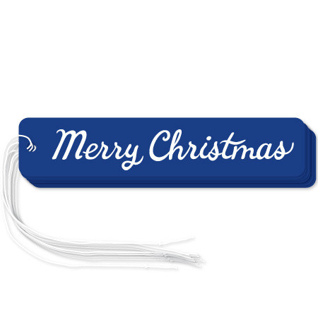 """Navy """"Merry Christmas"""" gift tags in packs of 6"""