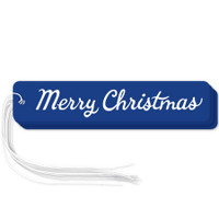 "Navy ""Merry Christmas"" gift tags in packs of 6"