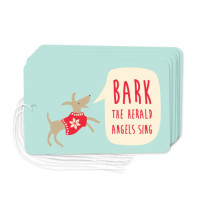 Christmas Dog gift tags pack of six for dog-lovers