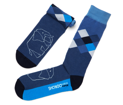 Elephant Argyle Socks
