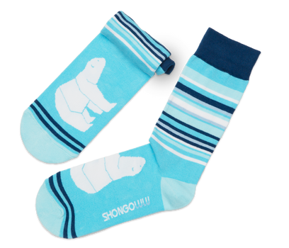 Polar Bear Bars Sock
