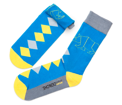 Rhino Diamonds Sock