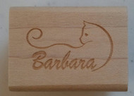 Cat Name Custom Rubber Stamp