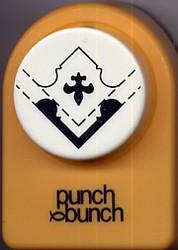 Fleur de Lis Corner Slot Punch