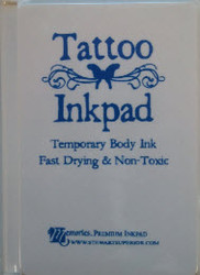 Blue Tattoo Temporary Body Ink Pad