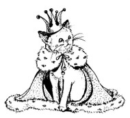 Queen Kitty Rubber Stamp - 27A04